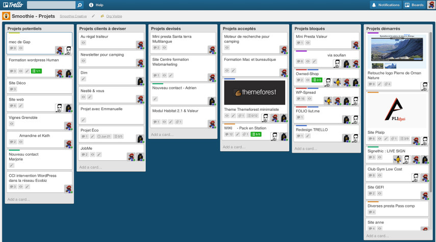 Trello Projects Board