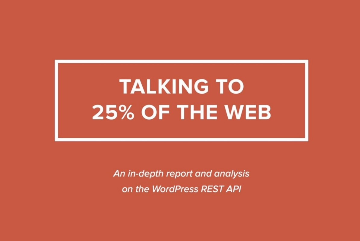 talking to 25% of the web