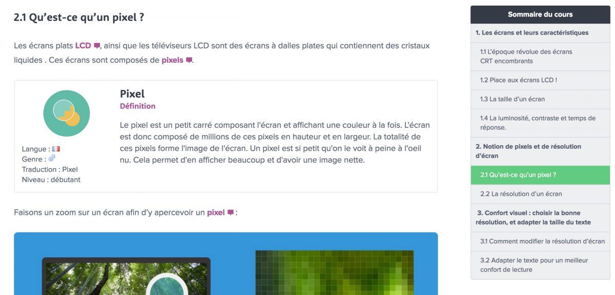 sommaire wordpress