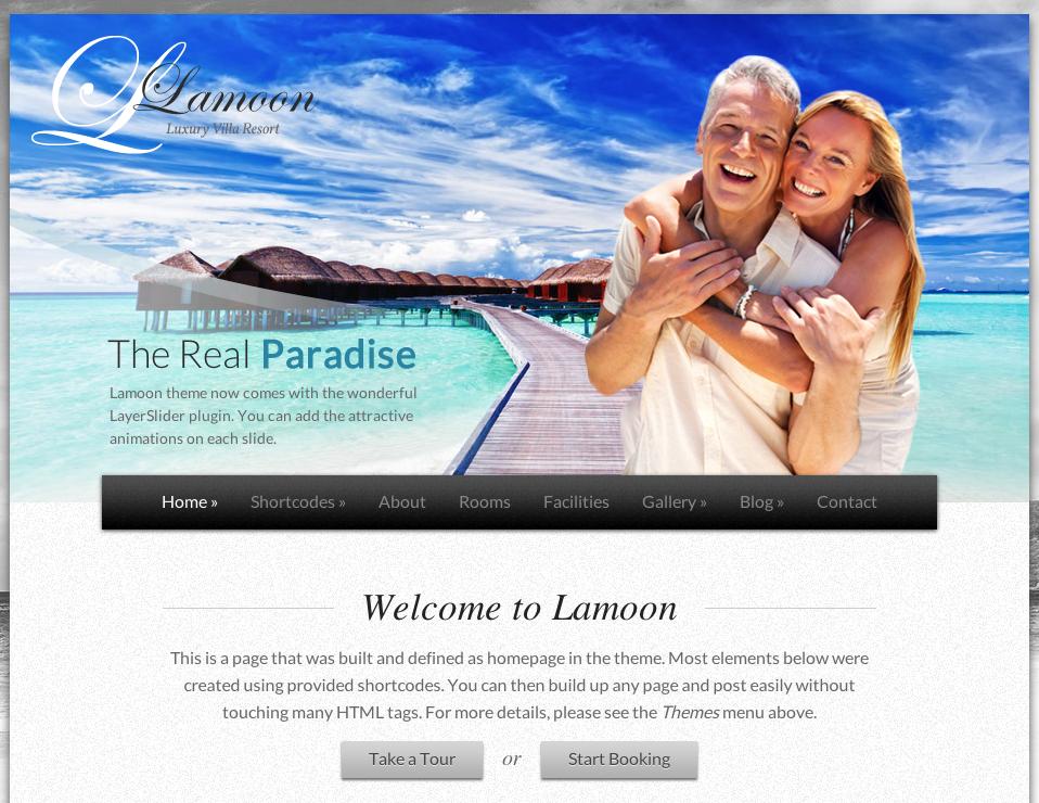 Aperçu du thème WordPress Lamoon