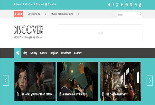 Aperçu du thème WordPress Discover