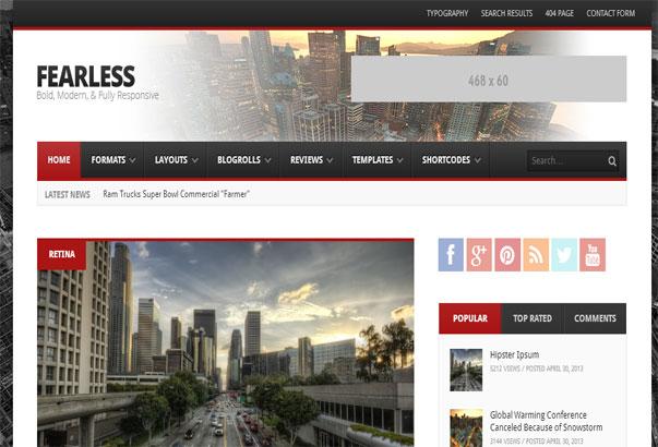 Aperçu du thème WordPress Fearless