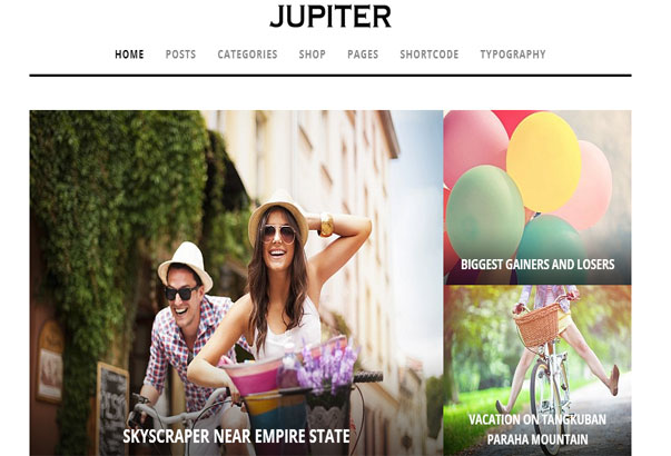 Aperçu du thème WordPress Jupiter