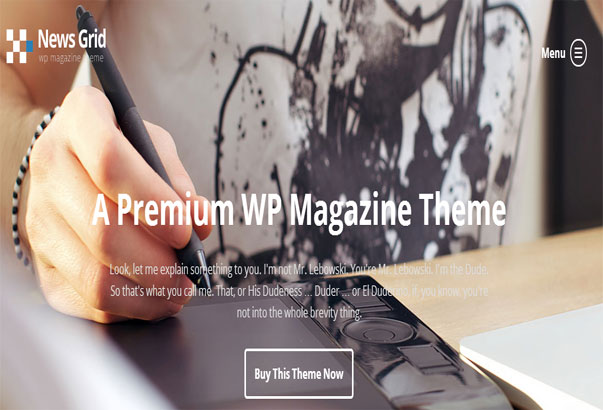 Aperçu du thème WordPress New Grid