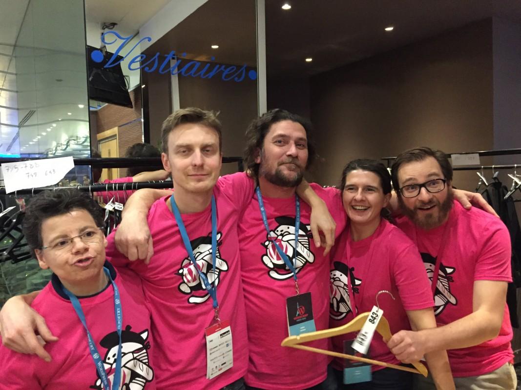 L'équipe d'organisation du WordCamp Paris 2016