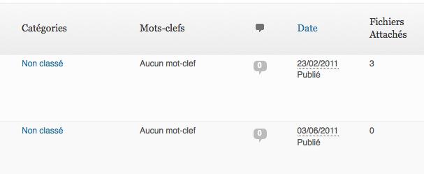 """Une colonne """"Fichiers Attachés"""" dans l'admin WordPress"""