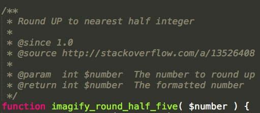 Une fonction du plugin Imagify qui indique sa source