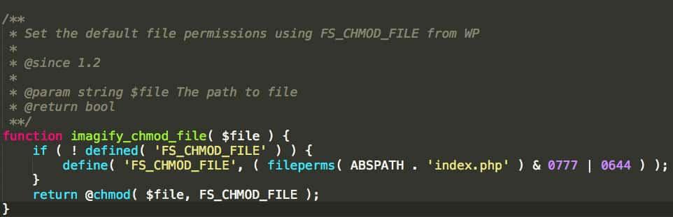 Une fonction du plugin Imagify préfixée