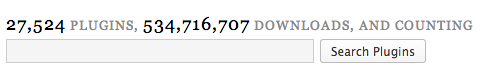 Nombre total de plugins et nombre total de téléchargements