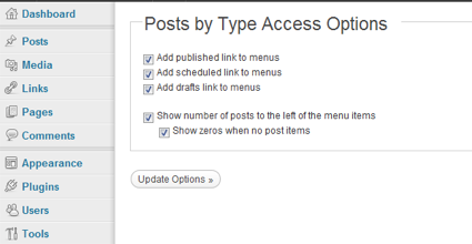 Gestion du plugin Post by Type Access
