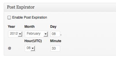 Paramétrer la date d'expiration d'un article avec Post Expirator