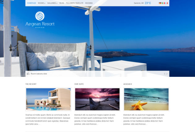 Aperçu du thème Aegean Resort