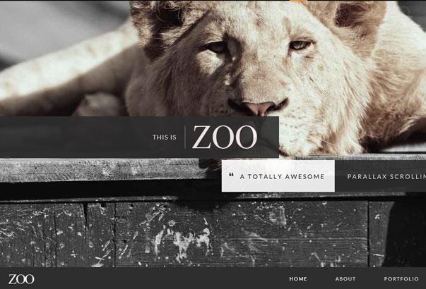 Aperçu du thème WordPress Zoo