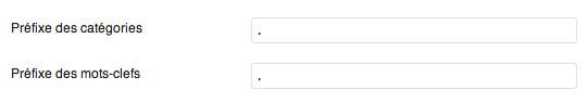 Suppression du préfixe des catégories et des tags à partir de l'administration