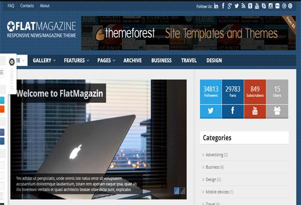 Aperçu du thème WordPress Flat Magazine