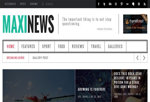 Aperçu du thème WordPress Maxi News