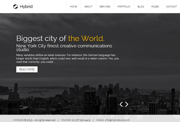 Aperçu du thème WordPress Hybrid